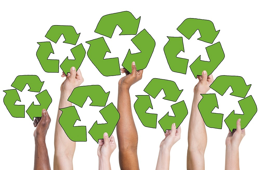 People Holding Recycling Symbol and Concepts